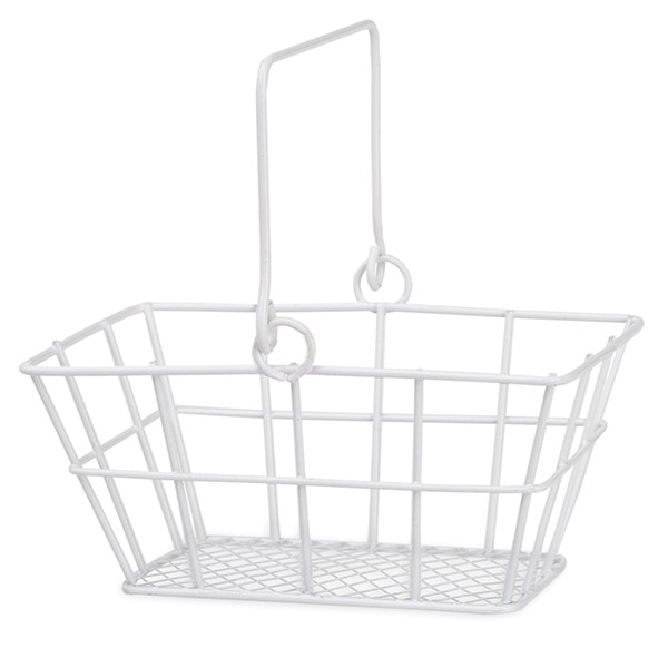 Stella Mini Rect Wire Shopper Basket with Swing Handle 5in