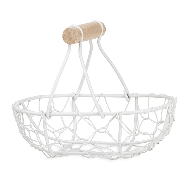 Stella Mini Oblong Wire Basket with Fixed Handle 5in