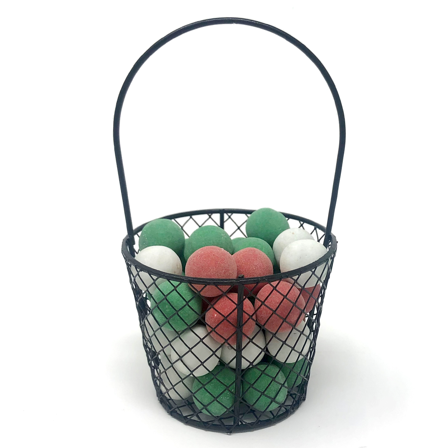 Stella Mini Wire Bucket Basket with Fixed Handle 4in