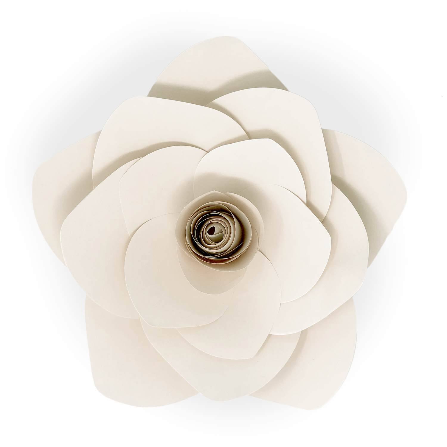 DIY Paper Flower Blossom White - Medium 10in