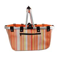 Canvas Basket - Citrus Stripes