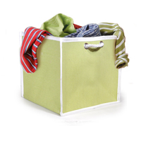 Posey Large Canvas Basket with Rope Handle (Key Lime Green)