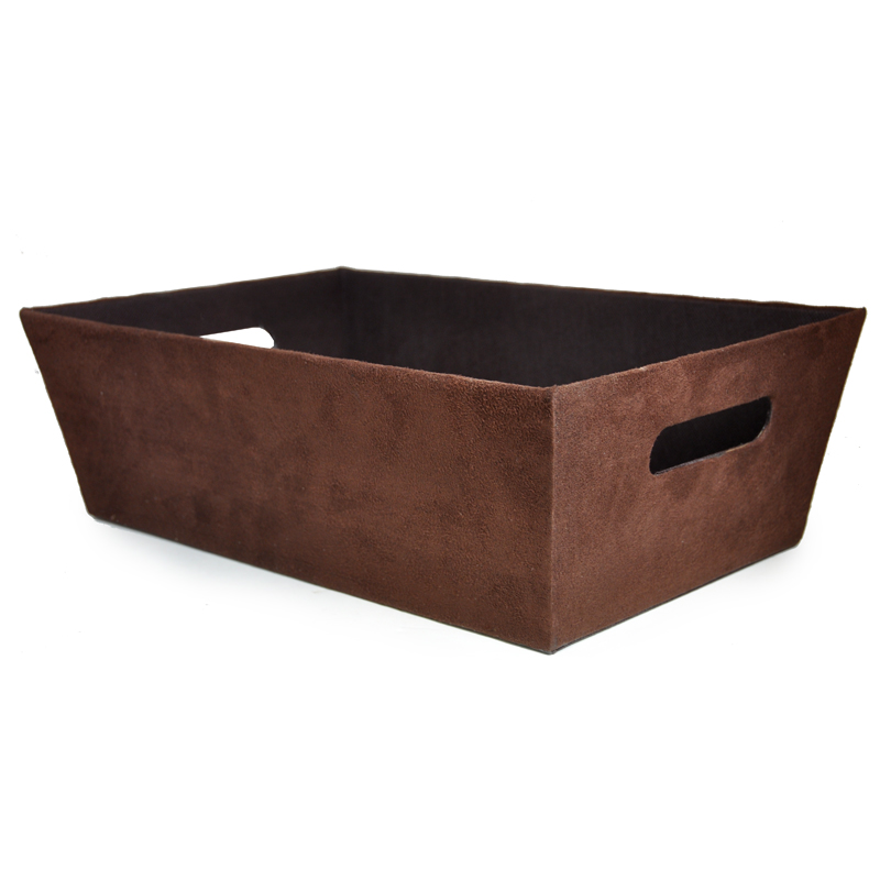 Roosevelt Faux Suede Utility Tray - Large 15in