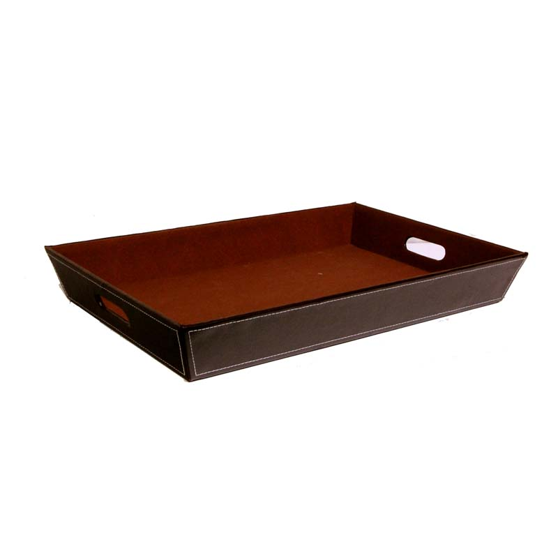 Brand new Roosevelt Faux Leather Serving Tray - Large The Lucky Clover  LC93