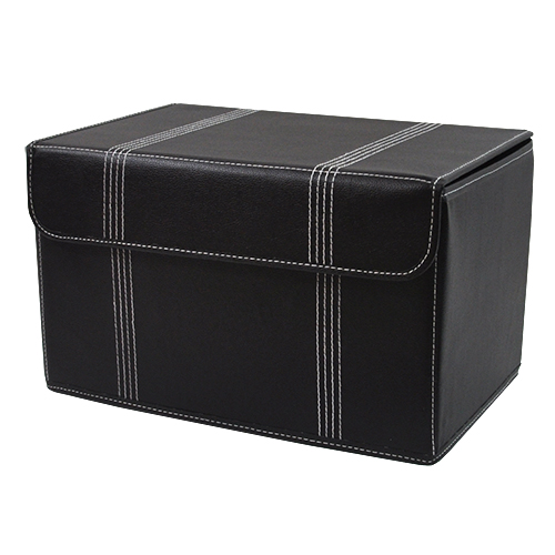 Roosevelt Faux Leather Storage Box With Lid Collapsible   15in. Zoom. Thumb  Thumb ...