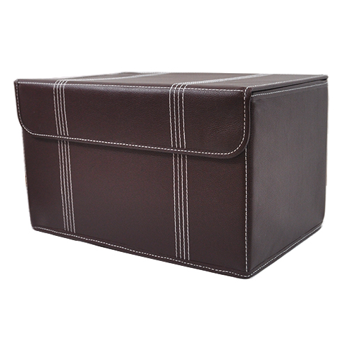Roosevelt Faux Leather Storage Box With Lid Collapsible   15in. Zoom. Thumb  ...