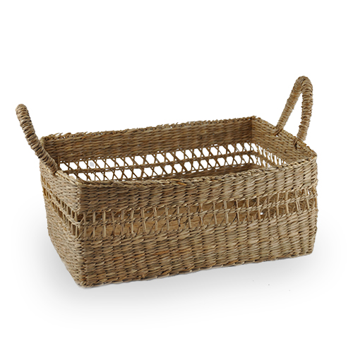 Natural Palm Utility Basket - Large 10in