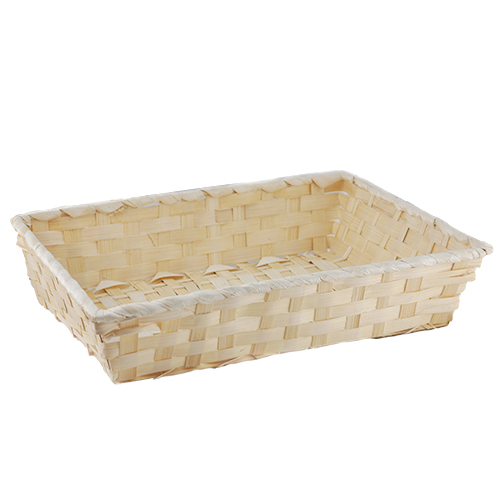 Natural Rectangular Bamboo Tray - Large 12in