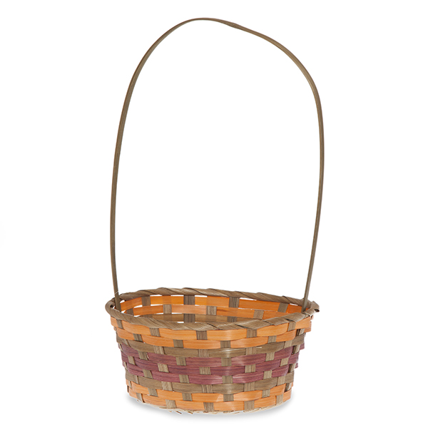 Oblong Bamboo Fall Handle Basket 9in