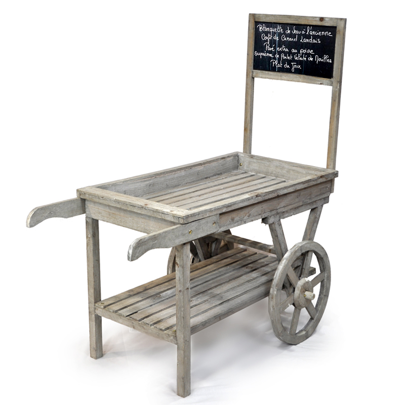 Wooden Retail Display Cart With Chalkboard The Lucky