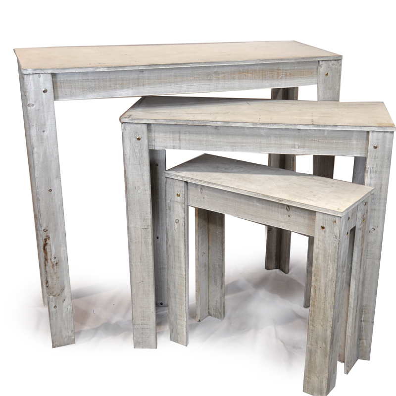 White Nesting Table For Retail Store ~ Classic nesting retail display tables set of three the