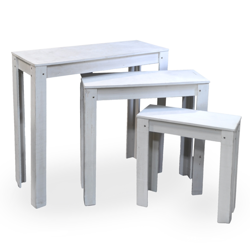 Classic Nesting Store Display Tables - Set of Three