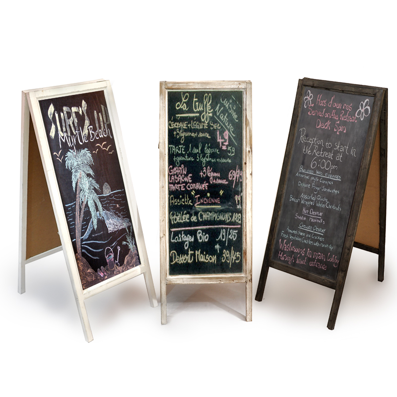 Sidewalk Sign with Blackboard 38in