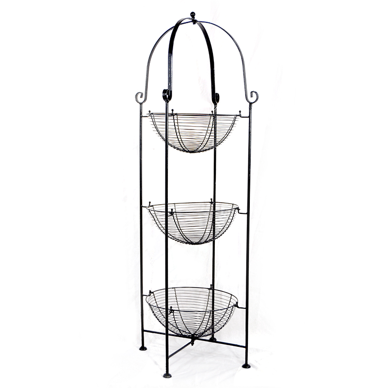 Stella Triple Round Metal Display Shelf 10in