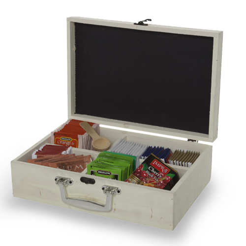 Wooden Display Box with Lid and Chalkboard - Small 11in