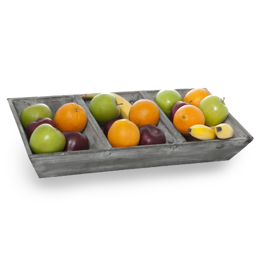 Wooden Retail Display Three Compartment Tray 18in
