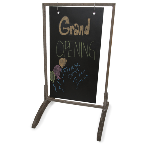 Swinging Wooden Two Sided Chalkboard Display Sign - Large 36in