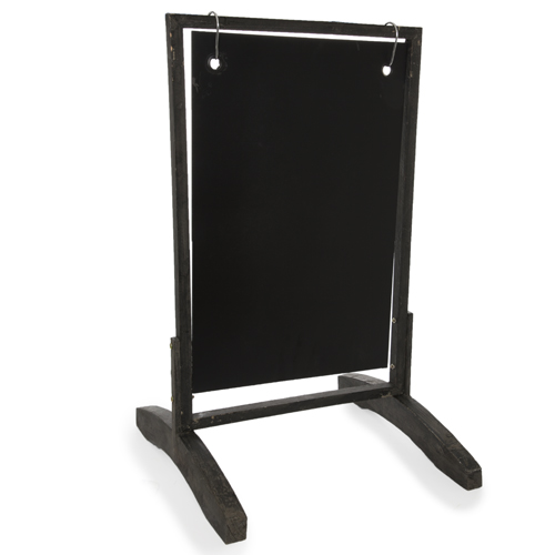 Swinging Wooden Two Sided Chalkboard Display Sign - Small 27in