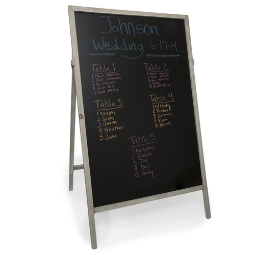 Wooden Chalkboard Display Easel The Lucky Clover Trading Co