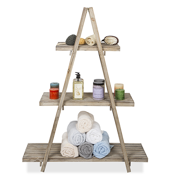 Wooden Retail Display Shelf – Three Tier