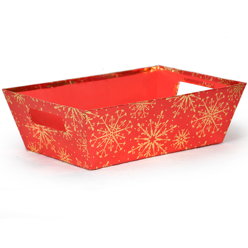 Gift Tray Large - Holiday II 14in - Sparkling Snowflake