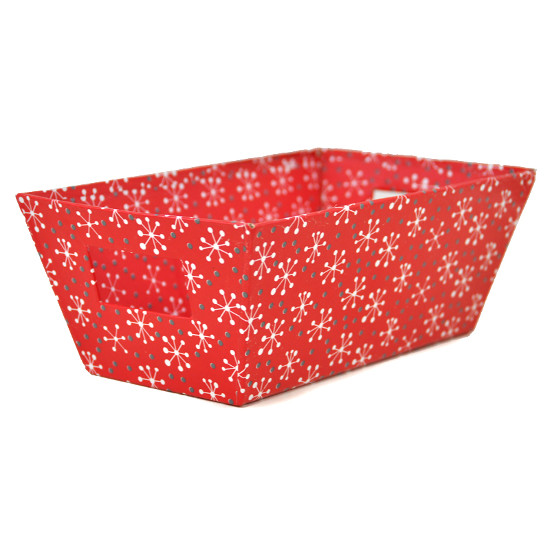Gift Tray Small - Holiday 9in- Red Snowflake