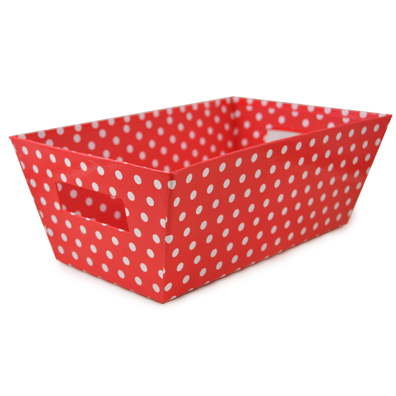 Gift Tray Medium - Designer I 12in - Red Polka Dot