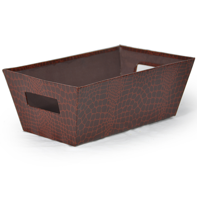 Gift Tray Medium - Designer I Faux Brown Gator 12in
