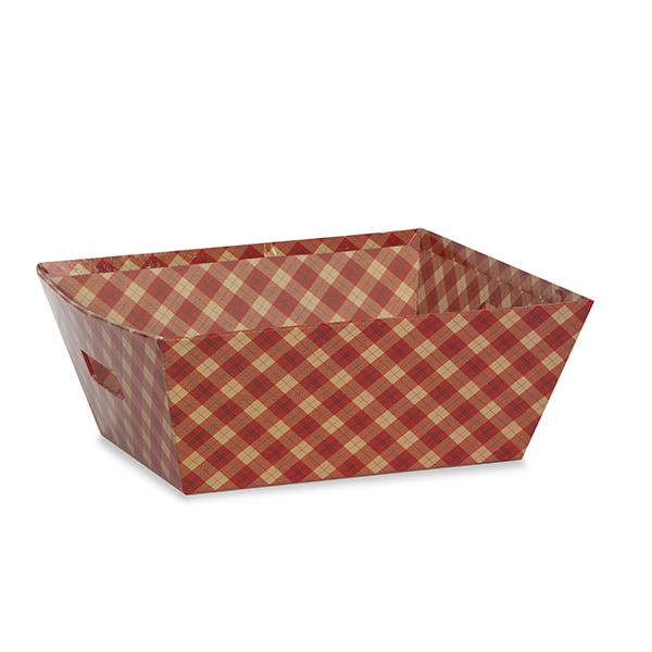Gift Utility Square Tray - Holiday 8in