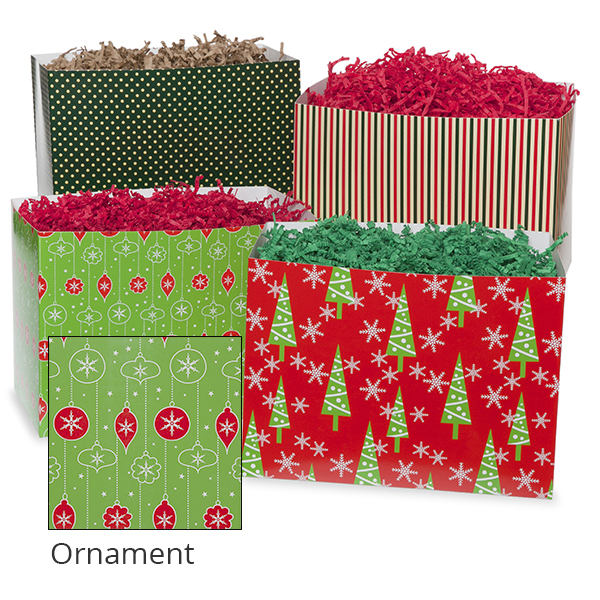 Small Holiday Basket Box 7in- Ornament