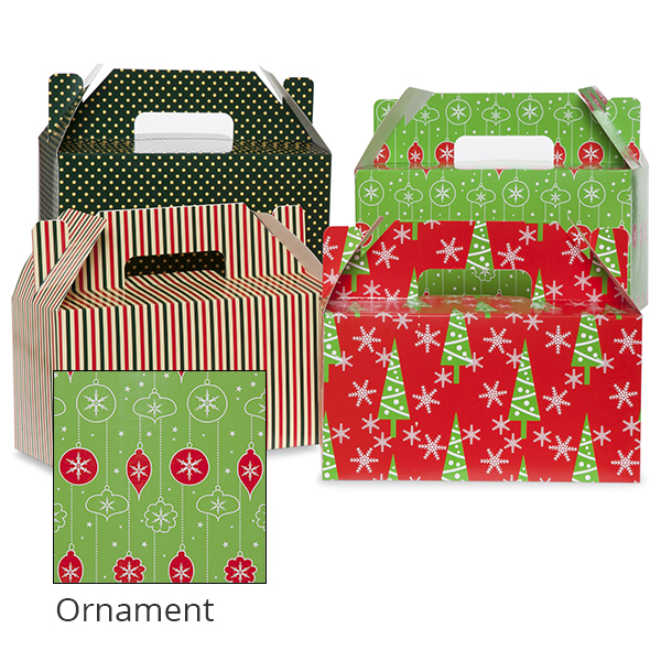Medium Holiday Gable Box 10in- Ornament