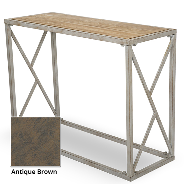 Rectangular Wood and Metal Display Table