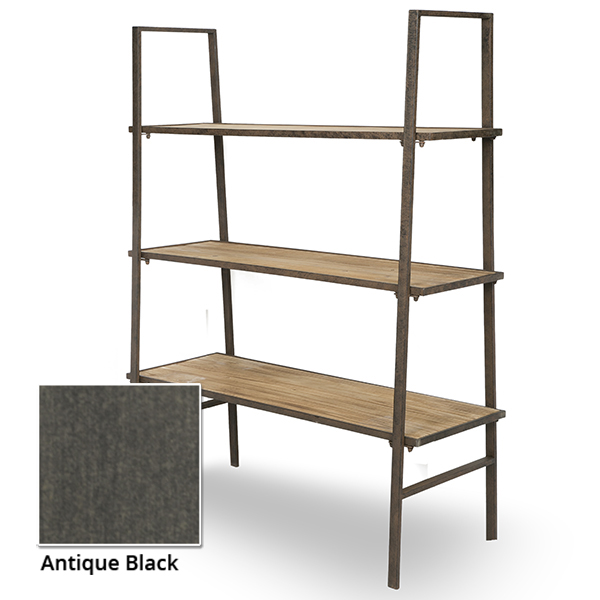 Three tiered wood metal display shelves the lucky clover