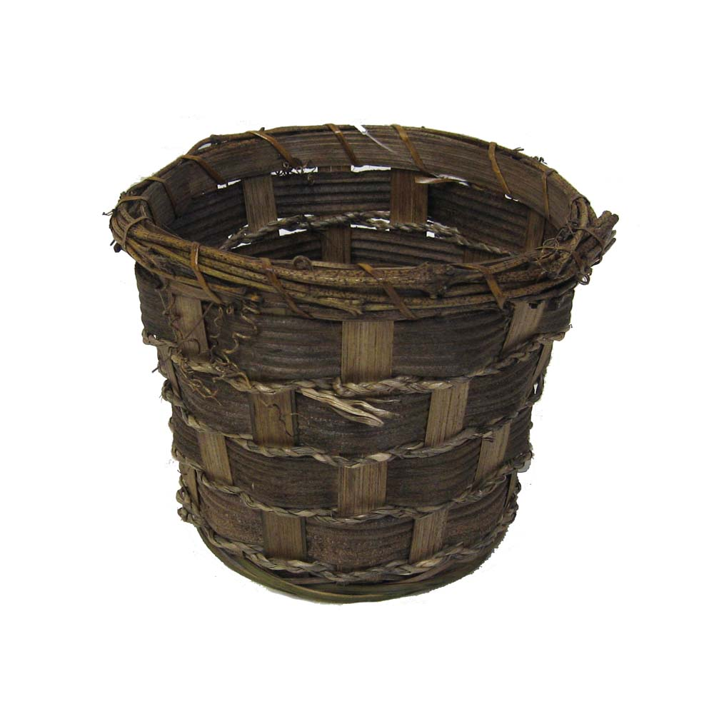 Bamboo Planter with Vine Rope 5in