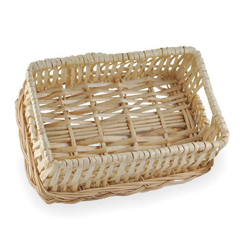 Baskets baskets large wicker bread on christmas baskets for kitchen - Willow Wicker Bread Basket The Lucky Clover Trading Co