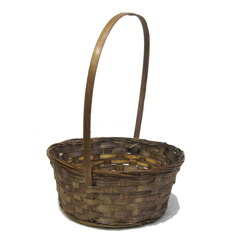 Bamboo 10 Inch Round Basket