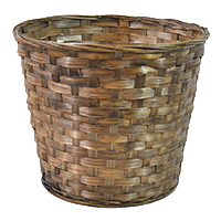 Brown Stained Bamboo Planter Utility