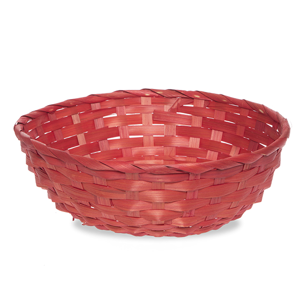 Round Bamboo Utility Basket 10in