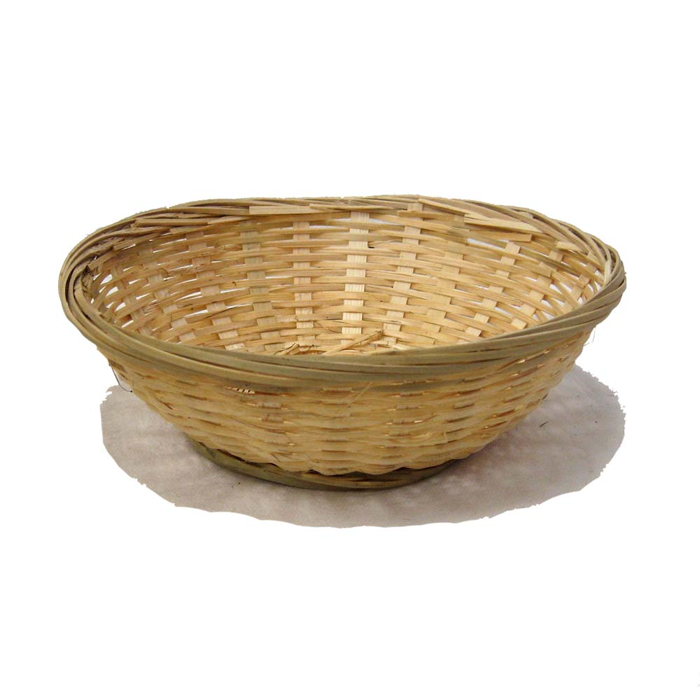 Bamboo Round Bread Bowl Basket 8in