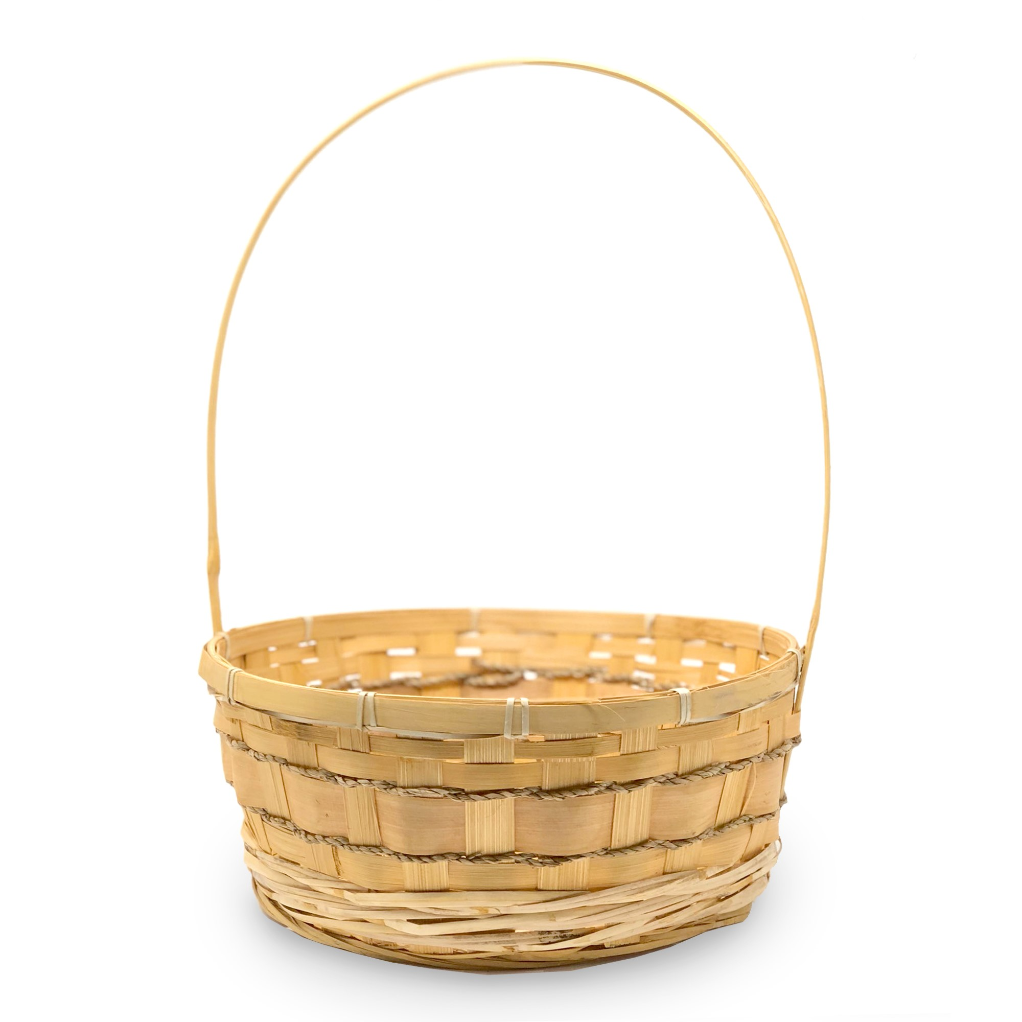 Harvest Bamboo Rope Handle Basket - Large 12in