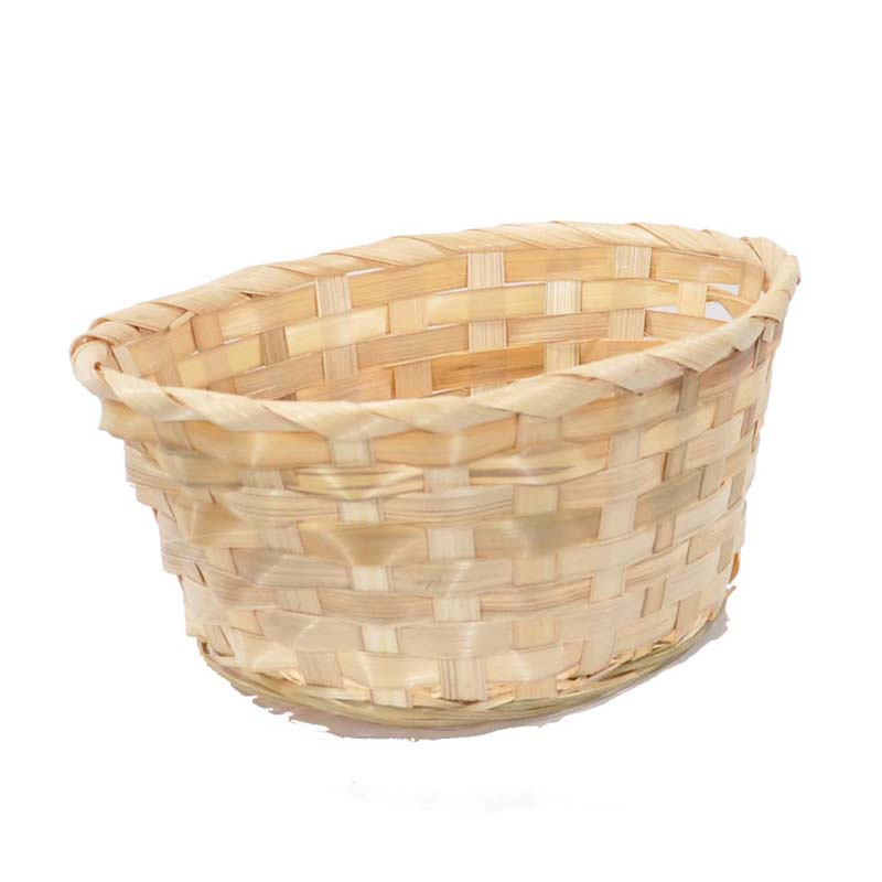 Bamboo Oval Basket - Natural 9in