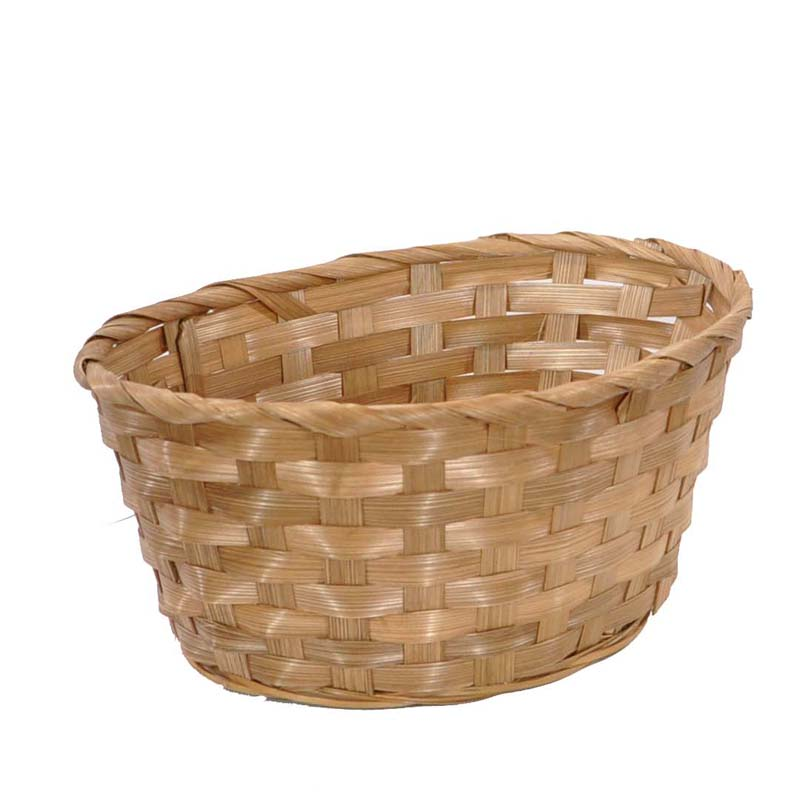 Bamboo Oval Basket Brown The Lucky Clover Trading Co