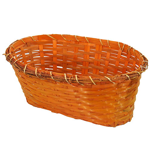 Bamboo Oblong Utility Basket - Autumn 13in