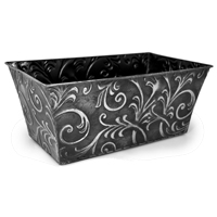 Xavier Large Scroll Leaf Rectangular (Antique Black)