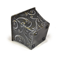 Xavier Small Scroll Leaf Square - Antique Black
