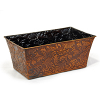 Xavier Large Floral Rectangular - Antique Bronze