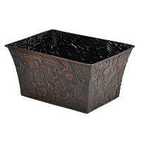 Xavier Medium Floral Vine Rectangular - Antique Bronze