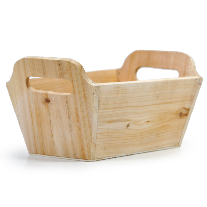 Natural Rectangular Wood Tray - Medium 9in