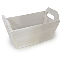 White Rectangular Wood Tray - Small