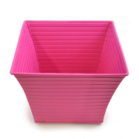 Ribbed Square Planter - Small